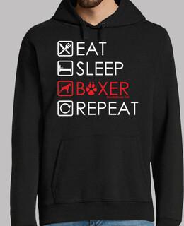 essen schlafen Boxer