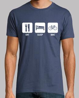 essen, schlafen, fahrrad