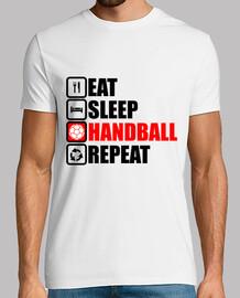 essen schlafen Handball wiederholen