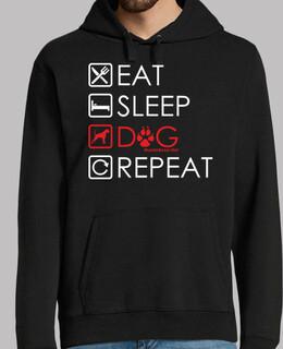 essen schlafen hund