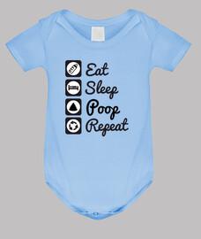 essen, schlafen, kacken, wiederholen sie bébé