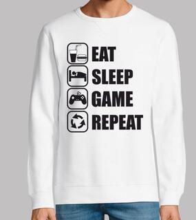 essen schlafen Spiel wiederholen