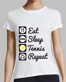 essen, schlafen, tennis, wiederholung