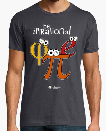 T-shirt essere irrazionale e π φ (sfondi scuri)