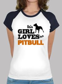 esta chica ama a su pitbull