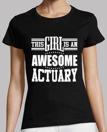 esta chica es un actuario impresionante