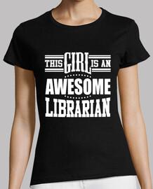 esta chica es una impresionante bibliotecaria
