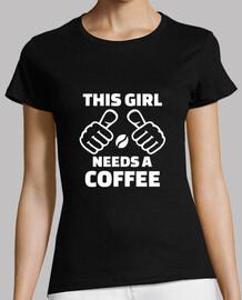 esta chica necesita un cafe