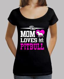 esta mamá ama a su pitbull