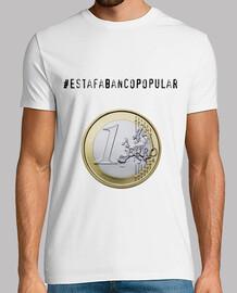 Estafa Banco Popular 1 Euro Blanca Hombre
