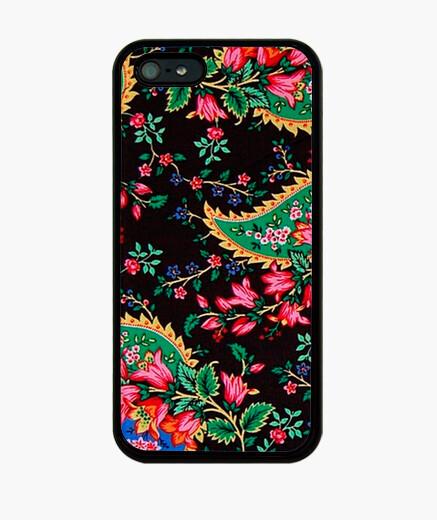 Funda iPhone Estampado Floral sobre negro 5-5S