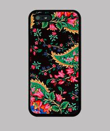 Estampado Floral sobre negro 5-5S