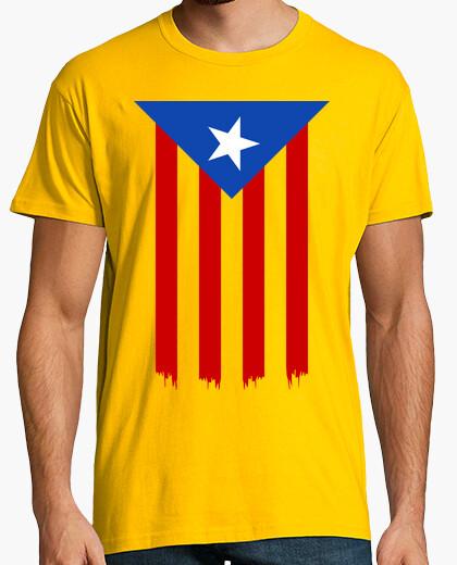 Tee-shirt Estelada Blava (Catalan Indépendance Drapeau)