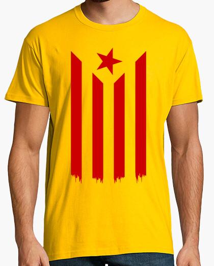 Tee-shirt Estelada Vermella (Catalan Indépendance Drapeau)