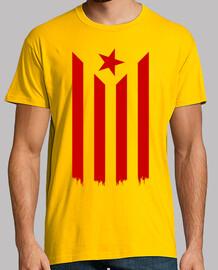 Estelada Vermella (Catalan Indépendance Drapeau)