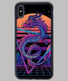esthétique du dragon retrowave - coque iphone
