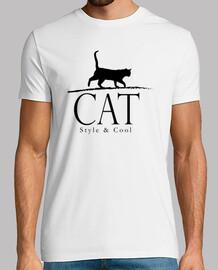 estilo del gato y fresco