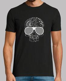 estilo tribal del tatuaje de la edición limitada del cráneo gótico para hombre de la camiseta