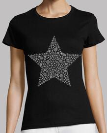 Estrella Copos de Nieve Blanco y Gris