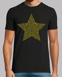 Estrella Copos de Nieve Dorado
