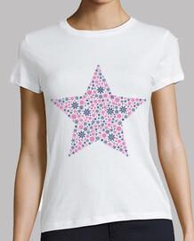 Estrella Copos de Nieve Rosa y Azul