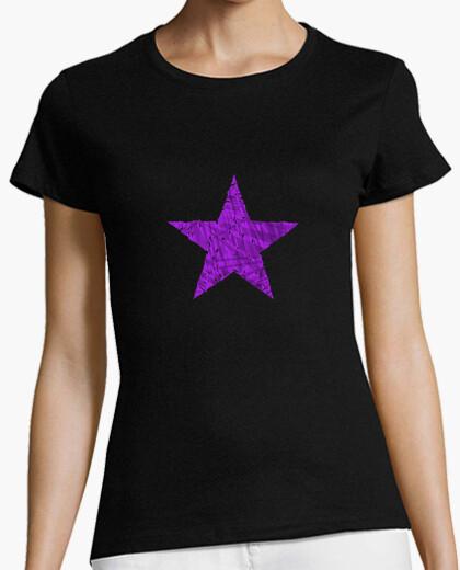 Camiseta Estrella Morada Cristales
