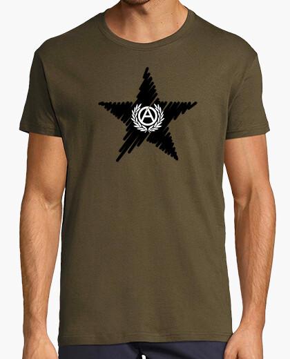 Camiseta Estrella Negra Anarquía Laurel