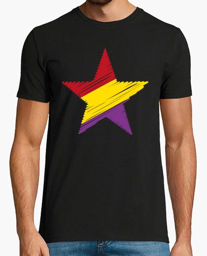 Camiseta Estrella Republicana Trazos