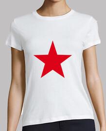 Estrella roja - Camiseta - Chica