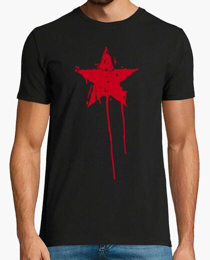 Camiseta Estrella Roja Pintura