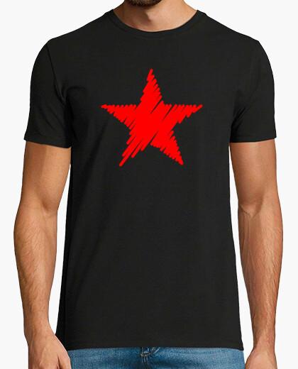 Camiseta Estrella Roja Trazos