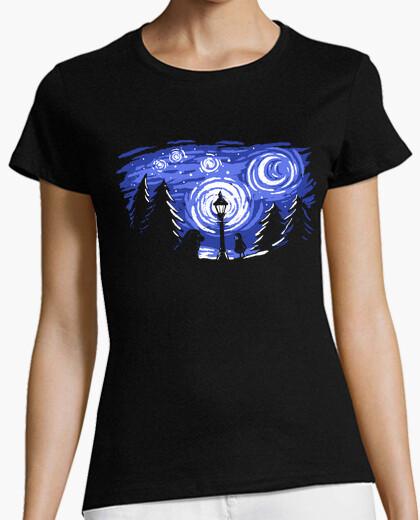 Camiseta estrellada noche de invierno