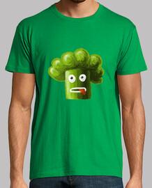 estresado de dibujos animados bolsa de brócoli divertido