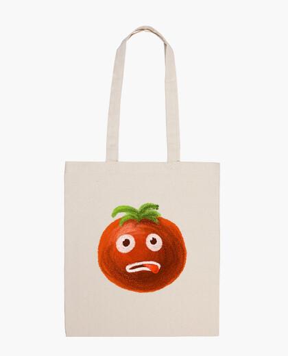 Bolsa estresado de dibujos animados divertido del tomate
