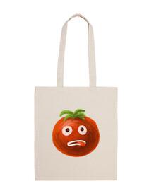 estresado de dibujos animados divertido del tomate