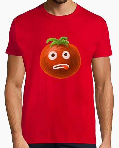 Camiseta estresado de dibujos animados divertido del tomate