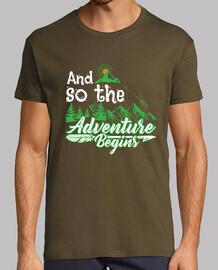 et ainsi les aventuriers aventuriers aventuriers commencent camper le t-shirt
