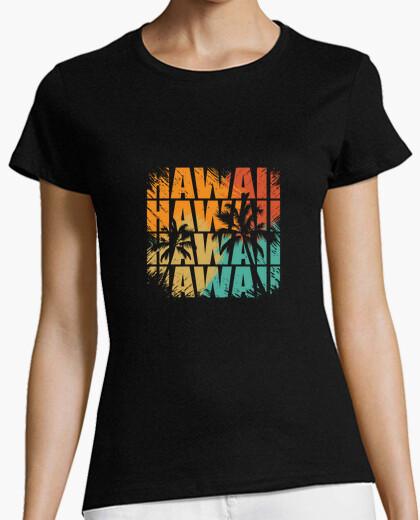 Tee-shirt été d'origine hawaïenne