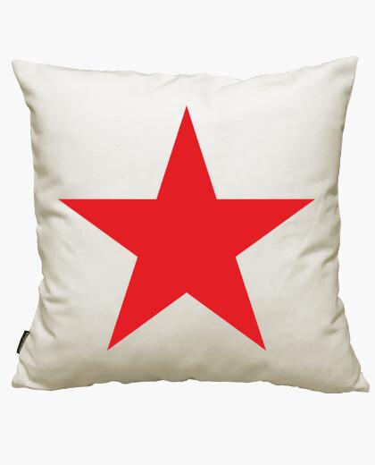 Housse de coussin étoile rouge