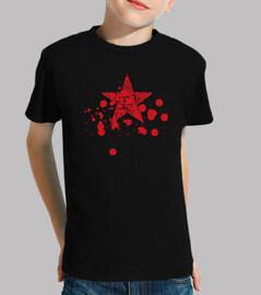 étoile rouge éclabousse