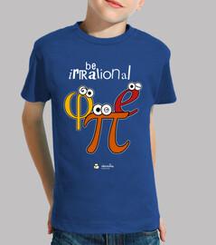 être φ irrationnel et π (fond sombre)