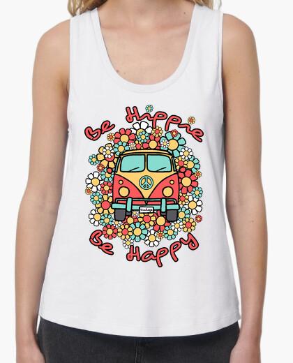 Tee-shirt être heureux hippie van être