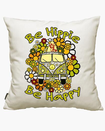 Housse de coussin être hippie heureux