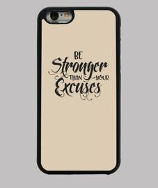 être plus fort t ont vos excuses noir