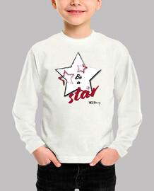 être une star t-shirt garçon manches longues