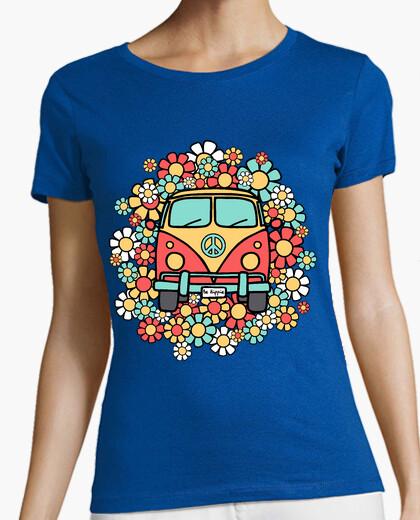 Tee-shirt être van hippie
