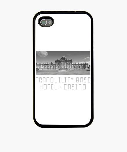 Coque iPhone étui iphone 4, hôtel de base de tranquilité noire + casino | singes arctiques