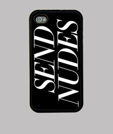 étui iphone 4, noir, envoi de nus