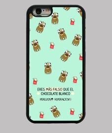 étui iphone 6. chocolat blanc