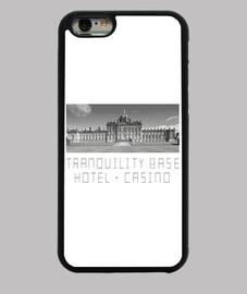 étui iphone 6, hôtel de base de tranquilité noire + casino   singes arctiques